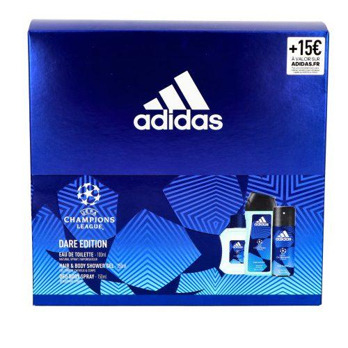 Adidas ajándékcsomag férfi Champions League edt 100ml+deo 150ml+tusfürdő 250ml