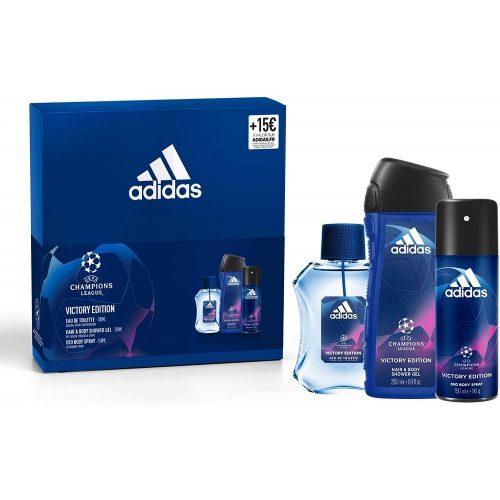 Adidas ajándékcsomag férfi Champions L.- edt 100ml+deo150ml+tus250ml - Victory