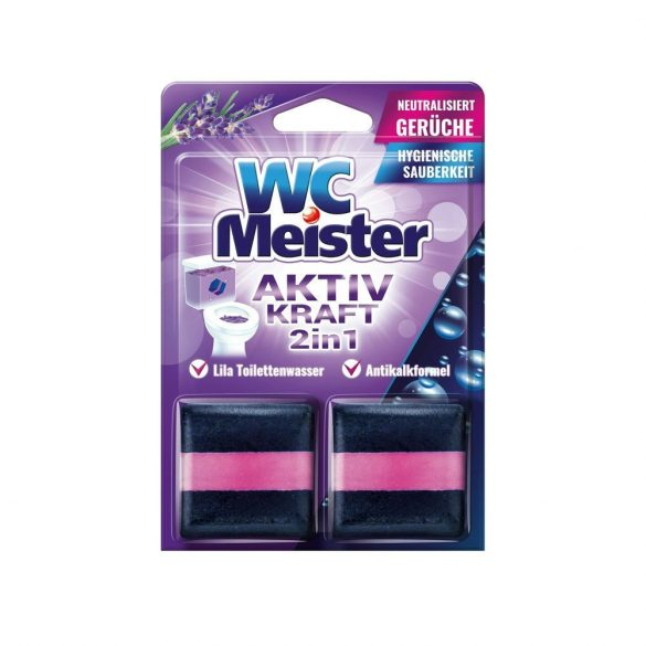 Wc Meister wc tartálytabletta twinpack 2*50 g - lavender