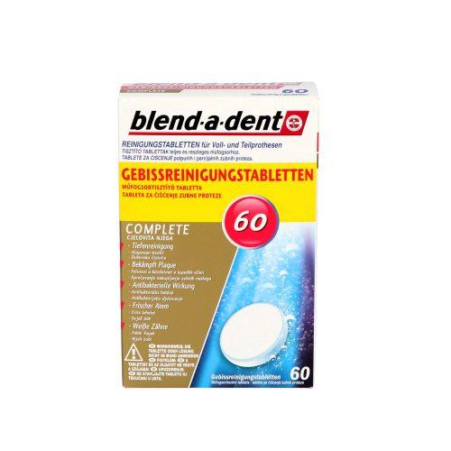 Blend-a-Dent műfogsortisztító tabletta 60 db Complete