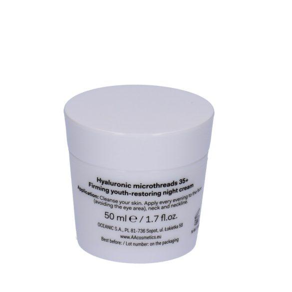 AA DT Hyaluronic microthreads 35+ feszesítő bőrfiatalító éjszakai krém 50 ml
