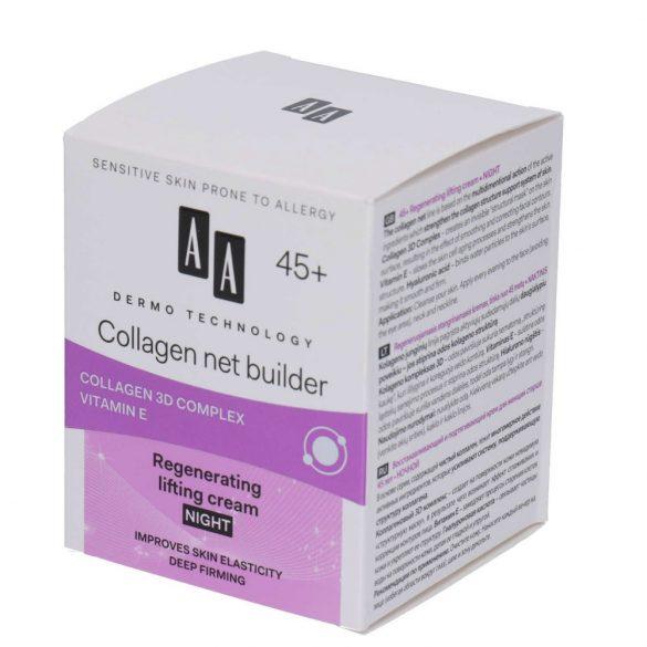AA DT Collagen net builder 45+ regeneráló emelő éjszakai krém 50 ml