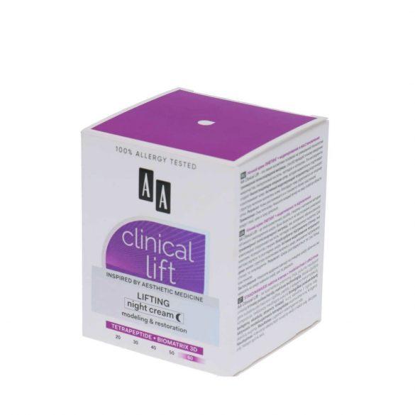 AA Clinical Lift Lifting 60+ formázó helyreállító éjszakai krém 50 ml