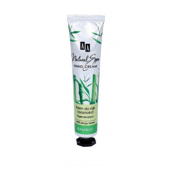AA Natural Spa kéz és köröm regeneráló krém bambusz olajjal 50 ml