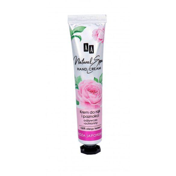 AA Natural Spa kéz és köröm tápláló és védő krém japán rózsaolajjal 50 ml