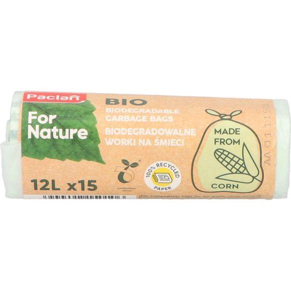 Paclan for Nature biológiailag lebomló szemeteszsák 12l (15*zsák) 14my