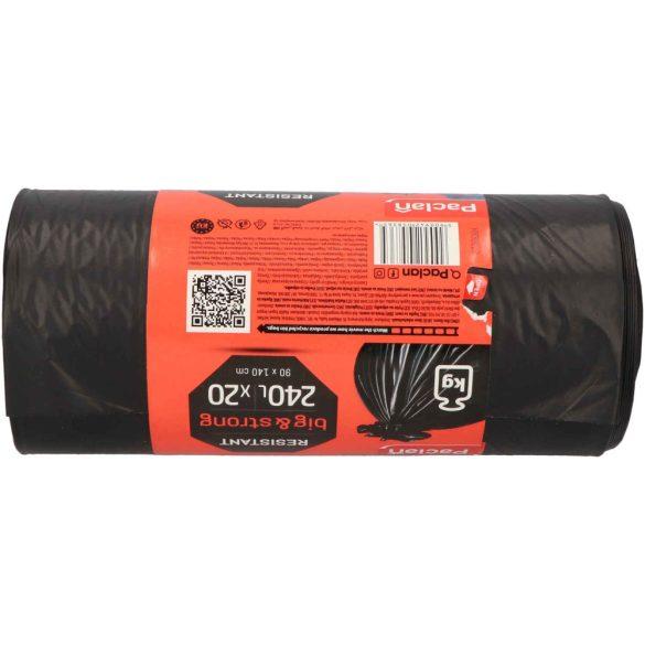 Paclan Big&Strong fekete szemeteszsák 240l (*20zsák) 90cm*140cm 40my
