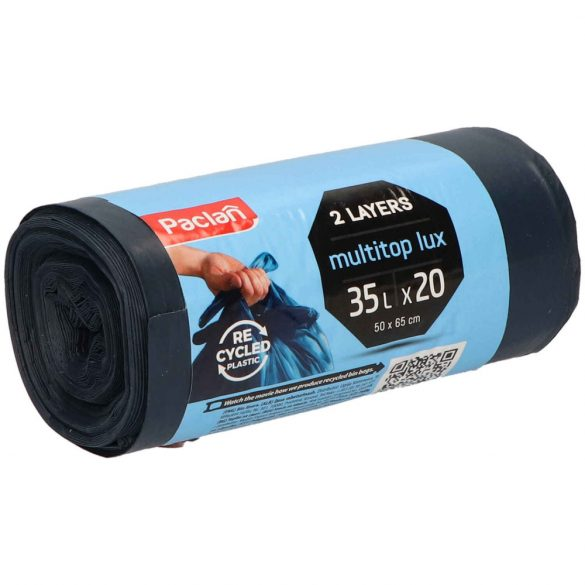 Paclan Multi Top Lux szemeteszsák 35l (*20zsák) 50cm*60cm 25my