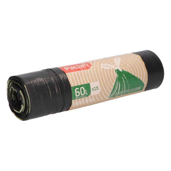 Paclan Ecoline zárószalagos szemeteszsák 60l (*15zsák) 60cm*72cm 25my