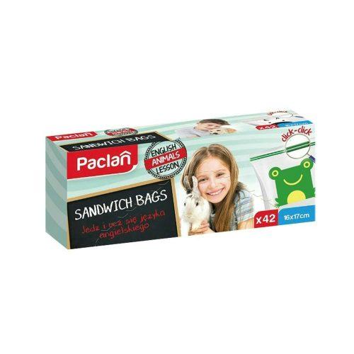 Paclan Click záras szendvicszacskó 16cmX17cm 42 db 30my