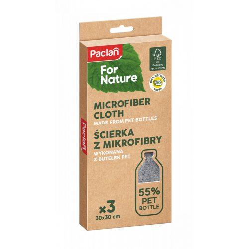Paclan for Nature mikroszálas törlőkendő 55%-ban PET palackból 3db 30cm*30cm