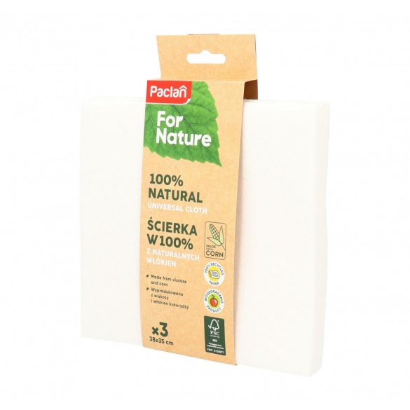 Paclan for Nature univerzális kukorica&viszkóz törlőkendő 3 db 38cm*35cm