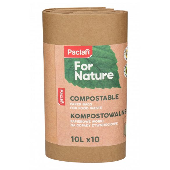 Paclan for Nature komposztálható papírzacskó 10l 10 db