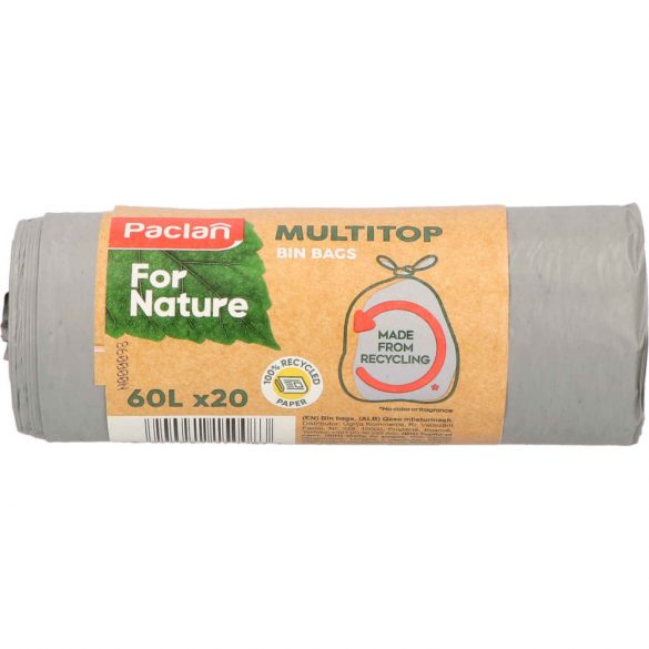 Paclan for Nature Multi Top szemeteszsák 60l (*20zsák) 18my