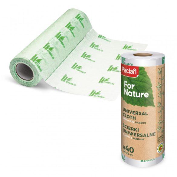 Paclan for Nature bambusz törlőrkendő tekercsen 40cm*25cm 40 db