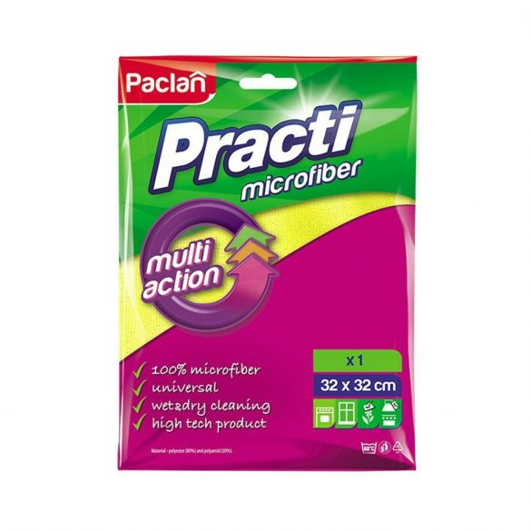 Paclan Practi Multi Action mikroszálas törlőkendő  32cm*32cm