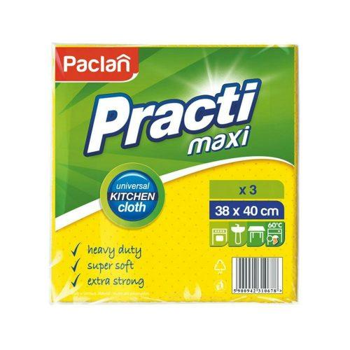 Paclan Practi Maxi univerzális viszkóz törlőkendő 3 db 38cm*40cm