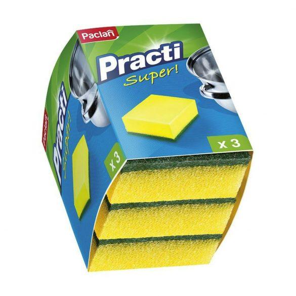 Paclan Practi mosogatószivacs dörzsivel 3 db