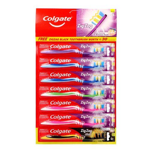 Colgate fogkefe Zig Zag 6db + Zig Zag Black 1 db - Medium